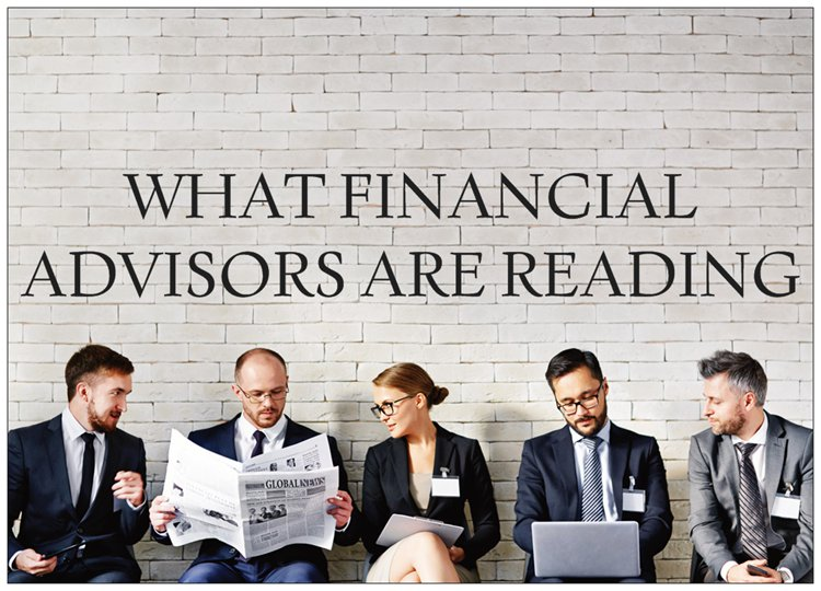 financial advisors are reading newspapers