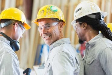 Men working in hard hats