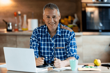 Advisor working from home