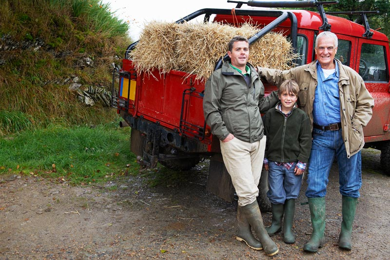 Three generations of male farmers