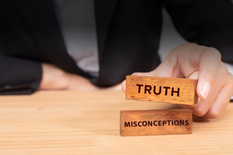 blocks of truth and misconceptions
