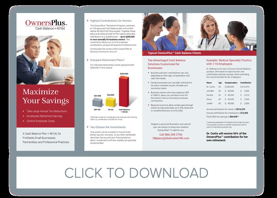 OwnersPlus Cash Balance Plan Brochure