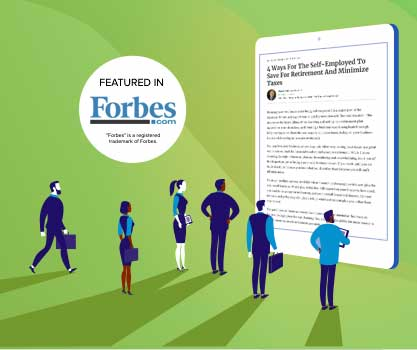 Featured In Forbes Green Background People staring at iPad